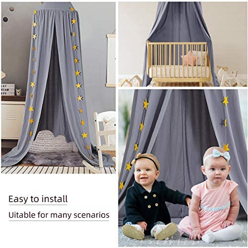 Gauze Round Dome Princess Bedding Hanging Canopy Mosquito Net Baby Kids Bedroom