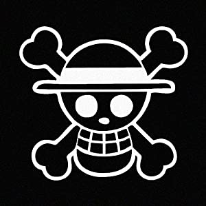 Amazoncom One Piece Luffy Straw Hat Pirate Anime Car Decal - Anime car decal stickers