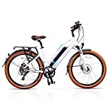 Magnum Metro Low Step Premium Electric Hybrid Bike – 500W Motor, Large Capacity 48V13A Lithium Battery – Handlebar Display – eBike for Adults
