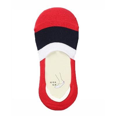 PANDA SUPERSTORE Lot de 3 chaussettes invisibles en coton à faible profondeur de chaussettes chaussettes basses (A)