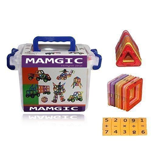 Emaks® Magnetic Building Blocks 52 pieces for Preschool Ski