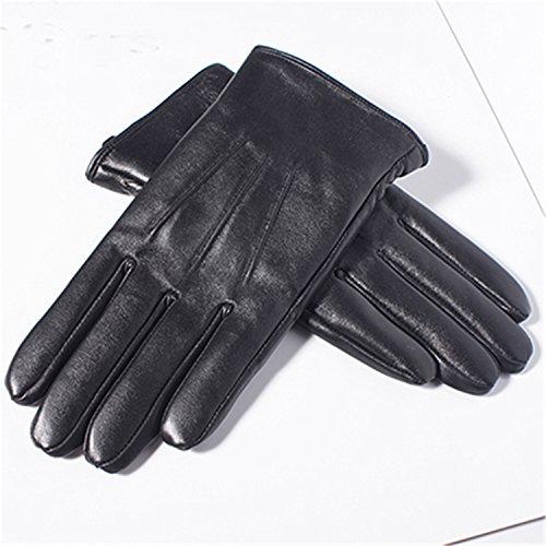 Better Annie Men's Genuine Leather Gloves Real Sheepskin Bla