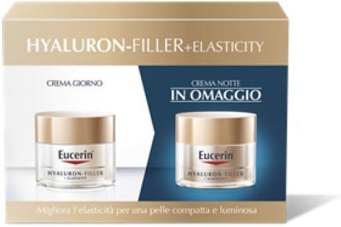 Eucerin - Estuche con los siguientes productos: Hyaluron Filler+Elasticity crema de día + crema de noche de la misma gama: Amazon.es: Salud y cuidado personal