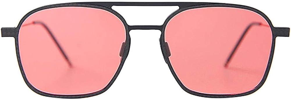 X&L Lunettes de soleil pour hommes en aluminium, en fibre de carbone et en magnésium, lunettes de soleil polarisées carrées, lunettes de soleil anti-reflets pour conducteur Rose