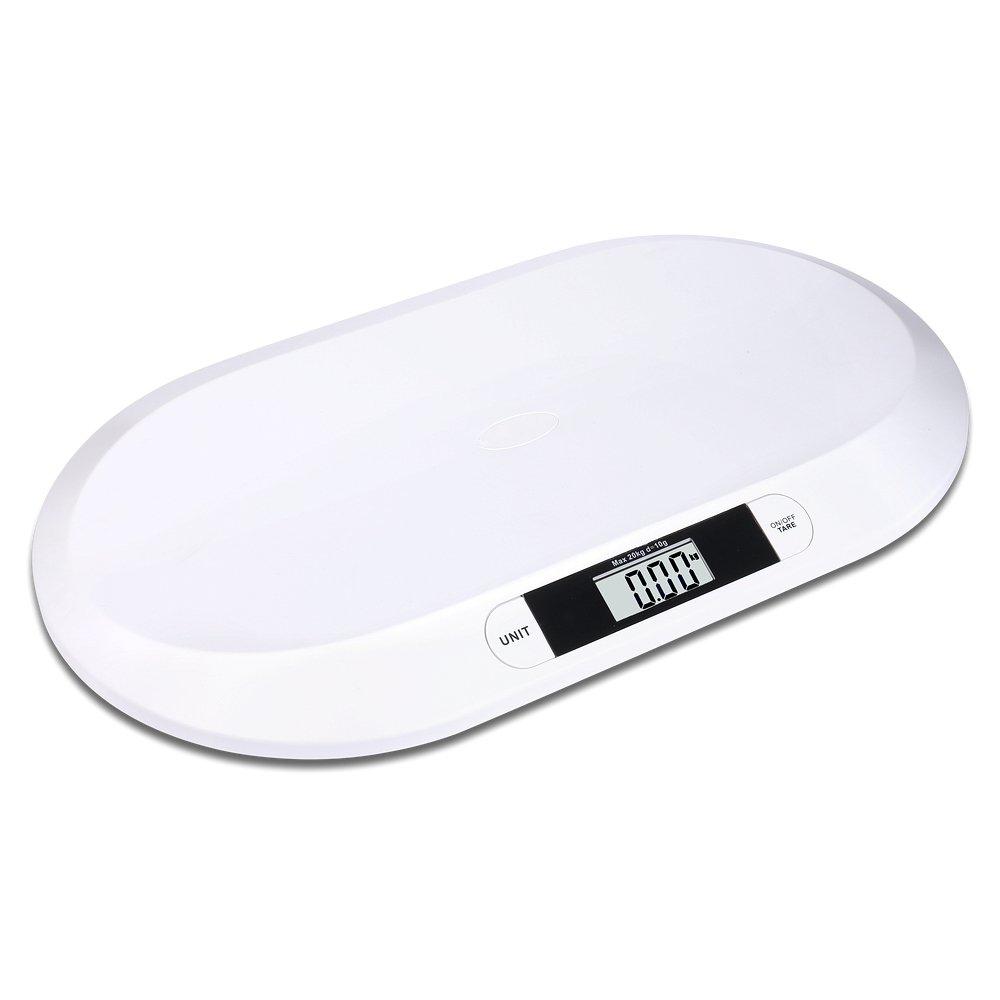 S//O/® b/áscula plana digital para beb/és hasta  20kg b/áscula para mascotas b/áscula para ni/ños