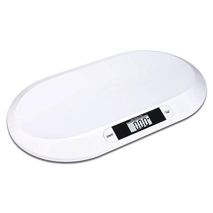 S/O® báscula plana digital para bebés hasta 20kg, báscula para niños,