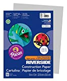 Pacon Groundwood Construction Paper, 9in. x 12in., Gray