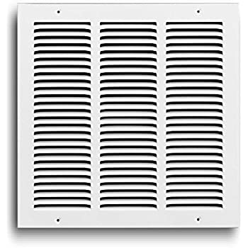 Rocky Mountain Goods Air Return Grille - Heavy Duty Steel with Premium Finish - Includes Full Installation kit - Louvered Design - Paintable Vent Cover - Matte White - Consistent air Flow (12