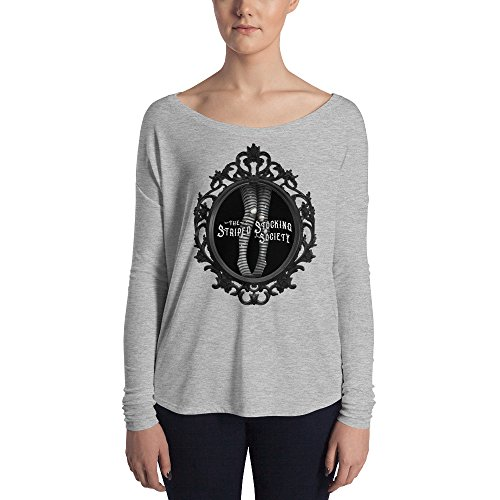 Striped Stocking Society, Gothic Frame - Flowy Long Sleeve Tee - Women's - Emilie Autumn -