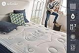 Naturalex COMFORT SPA | Therapy Memory Foam Mattress | 4ft 6 Double 135 x 190 cm Depth 25 cm | Reduces Heat Build Up | Medium Firm | Reversible Summer Winter | 10 Year Warranty | 100% Made in EU