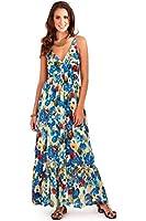 Pistachio Womens Strappy Floral Poppy Print Maxi Dresses