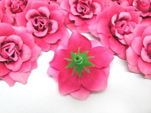 100-Silk-Fuchsia-Roses-Flower-Head-175-Artificial-Flowers-Heads-Fabric-Floral-Supplies-Wholesale-Lot-for-Wedding-Flowers-Accessories-Make-Bridal-Hair-Clips-Headbands-Dress