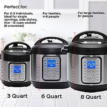 Instant Pot Duo Plus 60, 6 Qt 9-in-1 Multi- Use Programmable Pressure Cooker, Slow Cooker, Rice Cooker, Yogurt Maker, Egg Cooker, Sauté, Steamer, Warmer, & Sterilizer 8