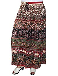 Summer India Long Skirts Ankle Length Printed Womens Indian Clothing