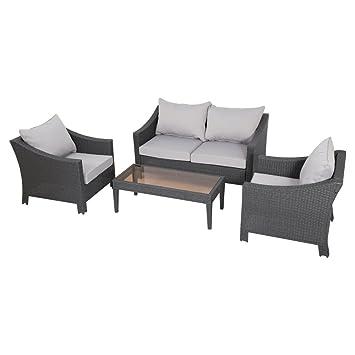 best selling home decor furniture destiny wicker 4 piece patio conversation set