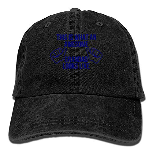 Camping Hair This is What an Awesome Grandad Looks Like Unisex Adult Adjustable Trucker Dad Hats