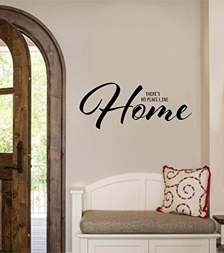 There's No Place Like Home Vinyl Decal Sticker Home Entryway Decor 36x15