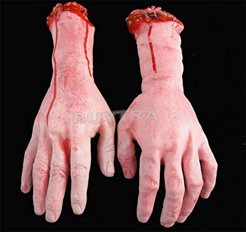 [Human Arm Hand Bloody Dead Body Parts Party Supplies Halloween Prop] (Customes Halloween Maternity)