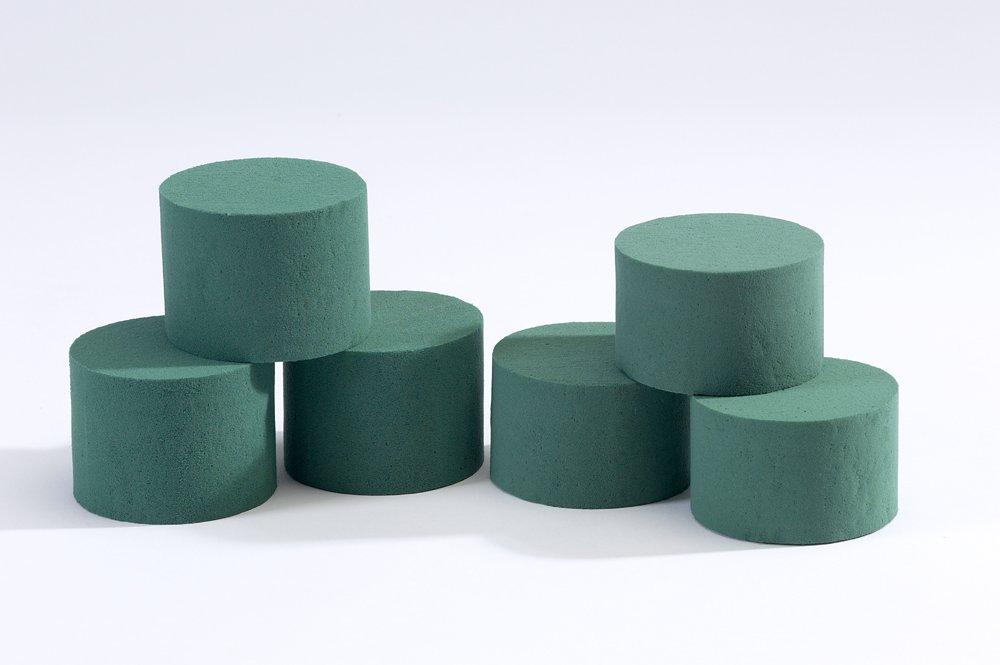 5 x Oasis Ideal Round Cylinder Wet Foam for Florist Floral Craft Flowers Floristry Designs /& Displays