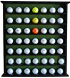 Golf Gift 49-Ball Cabinet Display Case Rack, No Door, Black, GB20-BL