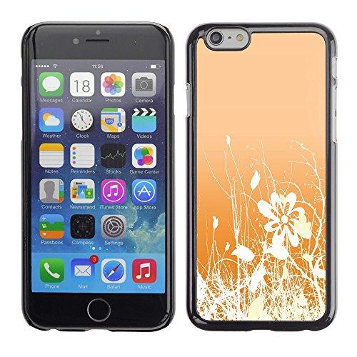 GooooStore/Housse Etui Cas Coque - Floral Pattern Orange White Flowers Field - Apple iPhone 6