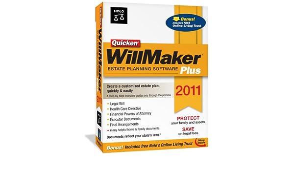 Nolo Quicken Willmaker Plus 2011: Amazon ca: Software