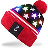 Mydeal Stylish Unisex Men Women LED Light Up Beanie Hat Knit Cap for Indoor and Outdoor, Skiing, Snowboard, Walking, Leisure, Festival, Holiday, Celebration, Parties, Birthday, Bar