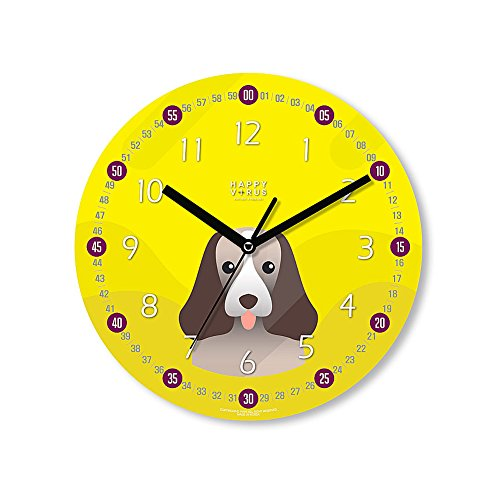 HappyVirus 11.22'' Educational Wall Clock, Children's Time Telling Teacher, Silent Non Ticking Home Decoration (Dog) #2117 by HappyVirus