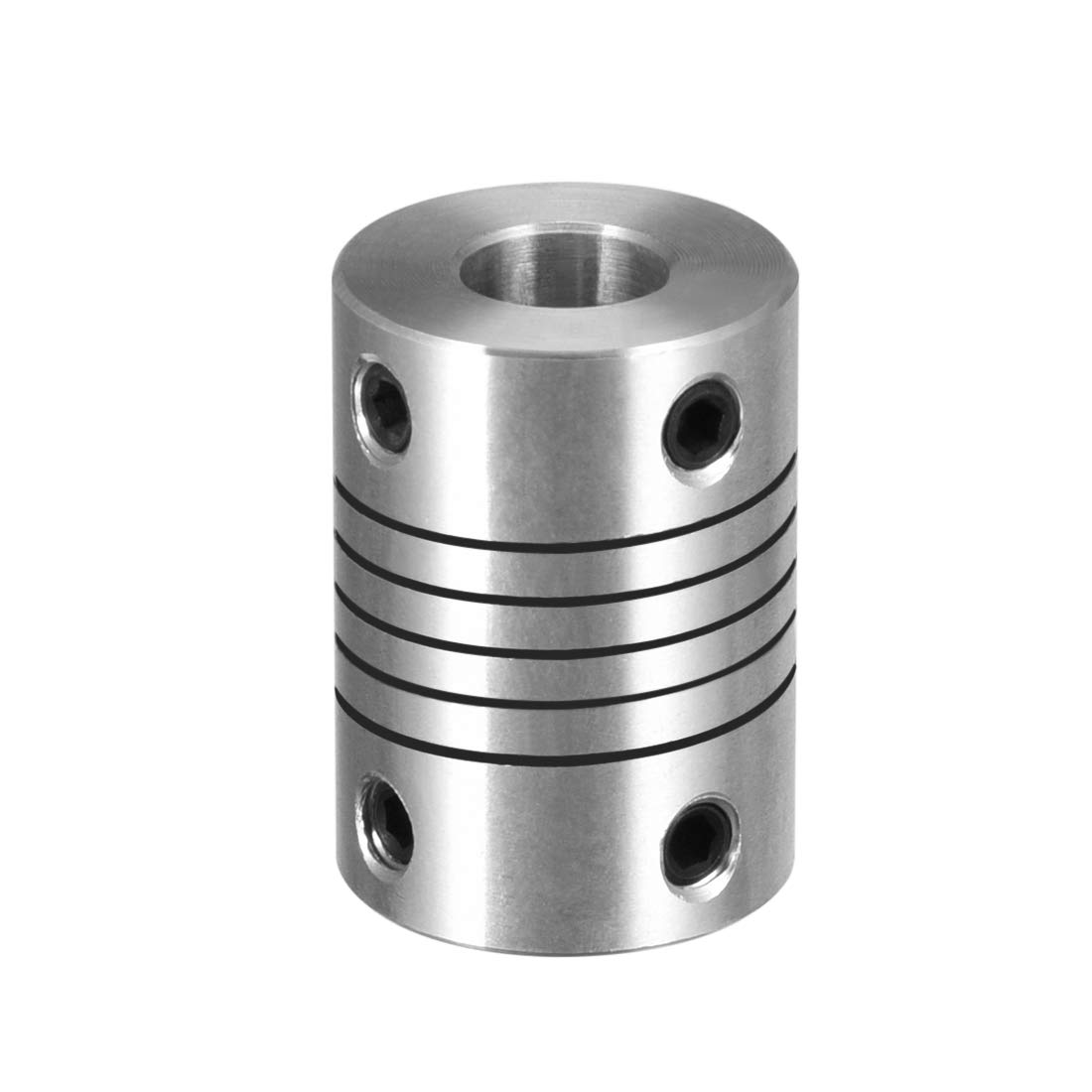uxcell 10mm to 10mm Stainless Steel Shaft Coupling Flexible Coupler Motor Connector Joint L25xD20 Silver
