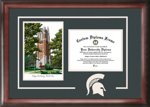 "Campus Images ""Michigan State University Beaumont Hall Spirit Graduate Frame, 8.5"" x 11"" from Campus Images"