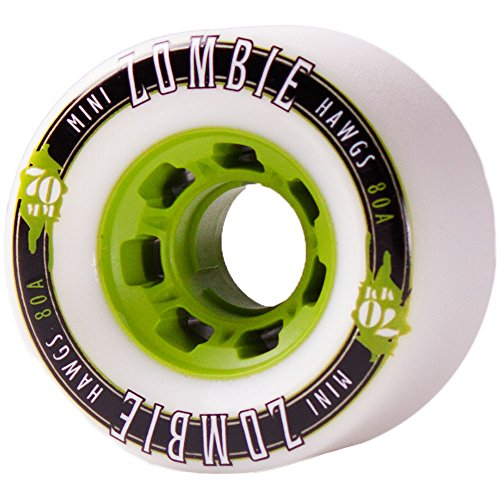 Hawgs Landyachtz Mini Zombie Longboard Wheels 70mm 80a White -