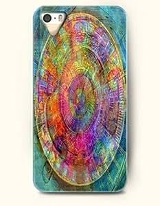 SevenArc New Apple iphone 5 / 5S Hard Back Case - MANDALA CIRCLE - Blue Yellow Mandala Circle Pattern