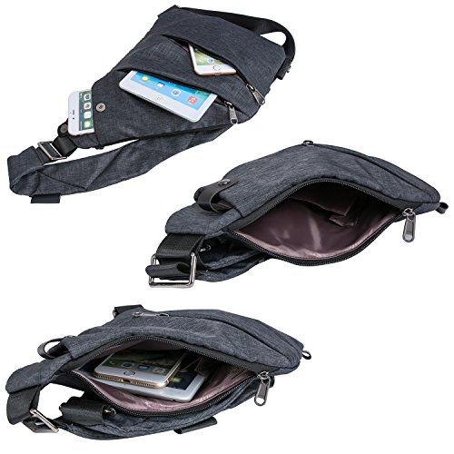Sling Bag Shoulder Chest Bags Cross Body Backpack Multipurpose Anti Theft Pack Daypack Bags For Outdoor Sport Travel Hiking (Right hand)