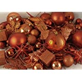 Vickerman 125-Piece Ornament Set, Burnish Orange