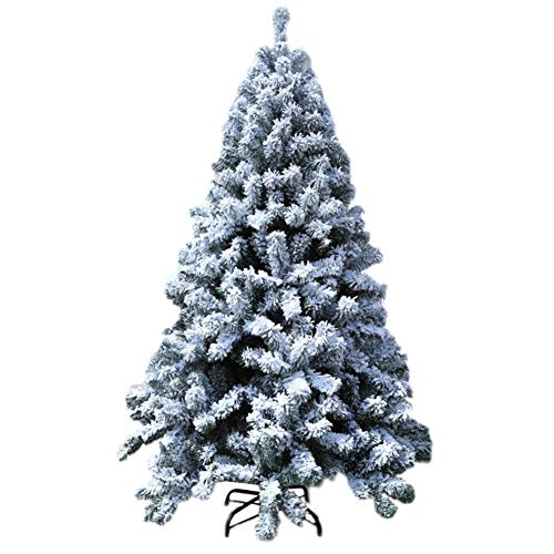 LQUIDE Christmas Decoration Tree, White Flocked Tree Snowflake Christmas Decoration Tree Decoration Bag, Artificial Indoor Outdoor Decoration Christmas Tree Frame Decoration 5 Feet