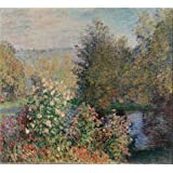 Oil painting 'The Corner of the Garden at Montgeron, 1876 By Claude Monet' printing on Perfect effect Canvas , 8x9 inch / 20x22 cm ,the best Study gallery art and Home decor and Gifts is this High Definition Art Decorative Prints on Canvas