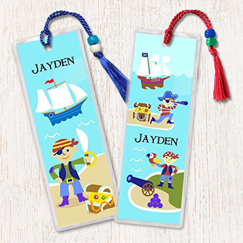 Olive Kids Pirates Personalized Bookmark