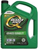 Quaker State 550038290 Advanced Durability 5W-20 Motor Oil (SN/GF-5) 5qt jug