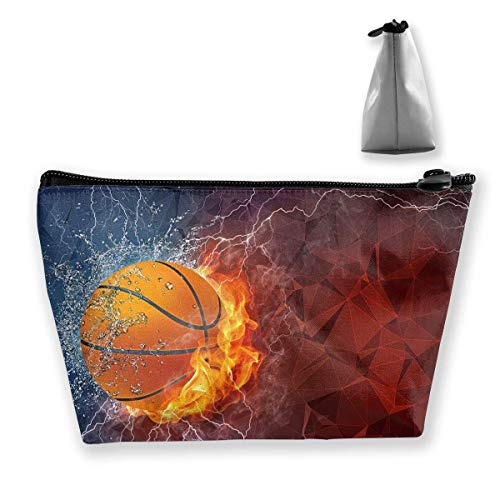 Cool Basketball Cosmetic Bags Travel Toiletry Pouch Portable Trapezoidal Storage Pencil Holders