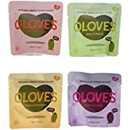 Oloves Natural Pitted Olives Variety Pack of 24 - Gluten-Free Vegan Basil & Garlic, Chili & Oregano, Lemon & Rosemary, & Chili & Garlic
