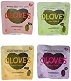 Oloves Natural Pitted Olives Variety Pack of 24 - Gluten-Free Vegan Basil & Garlic, Chili & Oregano, Lemon & Rosemary, Chili & Garlic
