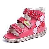 Memo Dino 3HA First Walker Toddler Girl Orthopedic Leather Anti-Slip Sandal, 18 (3T)