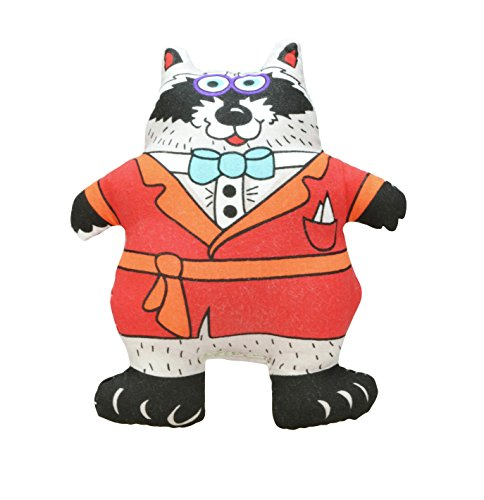 Petstages 292 Madcap Well-Dressed Raccoon Dog Squeak Plush Toy