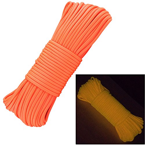 Glow in the Dark Zesty 21 Strand 550 Luminous Paracord Parachute Rope Cord