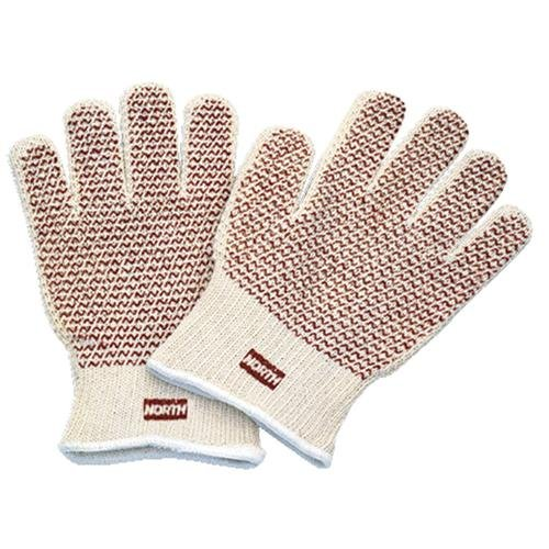 North by Honeywell 068-51/7147 Cotton Grip N Hot Mill Glove, 7 Gauge, Knitted, 12 Pairs (Pack of ()