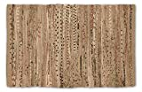 DII Contemporary Reversible One of A Kind Area Rug, Rag Rug For Bedroom, Living Room, Kitchen, 4 x 6' - Taupe