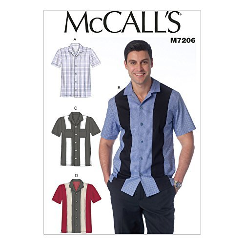 Mccall's Patterns Sizes 34/36/38/40 Men's Shirts by McCall's Patterns