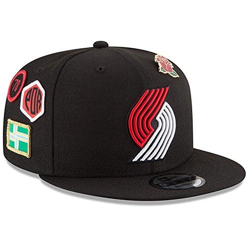 New Era Portland Trail Blazers 2018 NBA Draft Cap 9FIFTY Snapback Adjustable Hat- Black ()