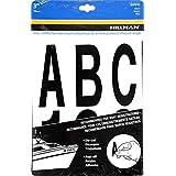 The Hillman Group kit de letras y números troquelados de 1 pulgada, 7,62cm, Negro