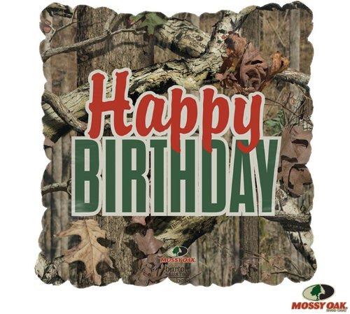 Happy Birthday Mossy Oak Mylar 17